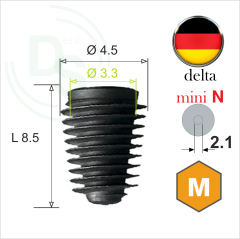 Dll.4508 Имплантат MeDent Delta mini N Conical 11° Ø4.5 L8.5