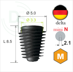Dll.5008 Имплантат MeDent Delta mini N Conical 11° Ø5.0 L8.5