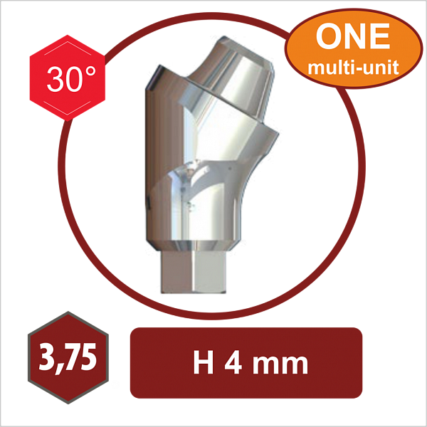 S17-3.75,30°,4 mm – Угловой абатмент The-One MULTI UNIT