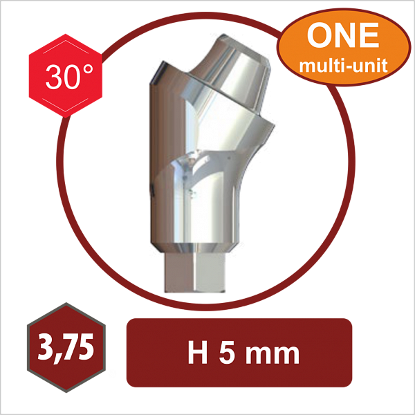 S17-3.75,30°,5 mm – Угловой абатмент The-One MULTI UNIT
