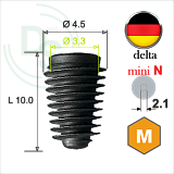Dll.4510 Имплантат MeDent Delta mini N Conical 11° Ø4.5 L10.0